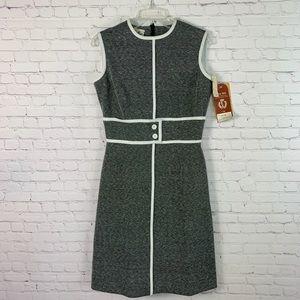 Vintage 70s Butte Knit Mod Dress NWT Size 12